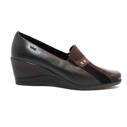 VALLEVERDE - Mocasines de Piel para mujer Marrón marrón Marrón Size: 35: Amazon.es: Zapatos y complementos