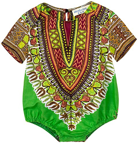 Shenbolen Kids African Dashiki Print Jumpsuits Piece Pants Clothing (X-Small, C) by Shenbolen