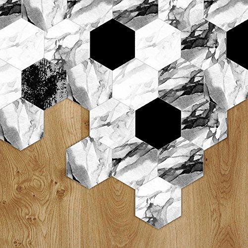 """VANCORE Floor Tiles Sticker Living Room Bedroom Bathroom Waterproof Kitchen Mural Decal 4.53"""" x 7.87"""" 10 Pcs/Set"""