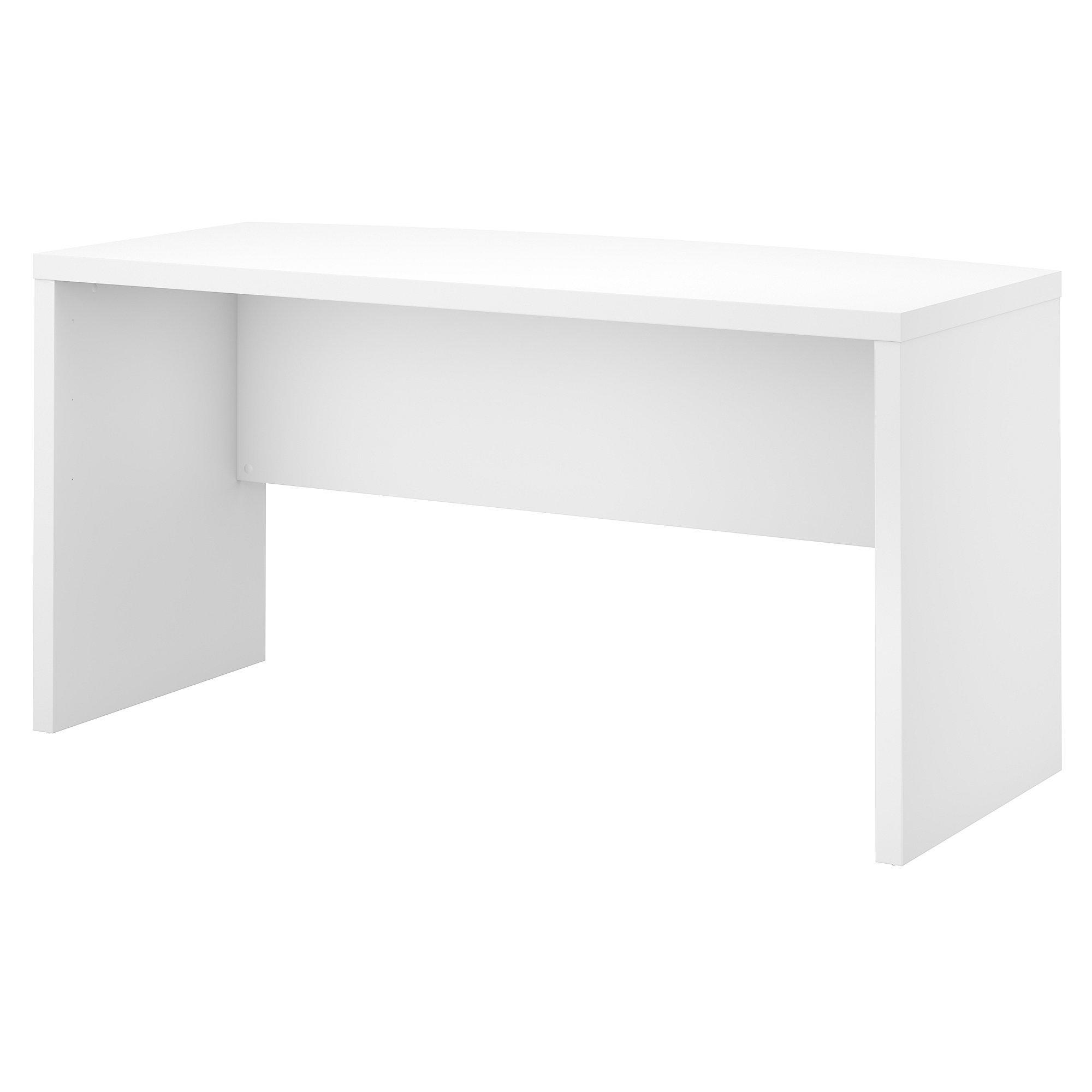 Office by kathy ireland Echo 60W Bow Front Desk in Pure White by Office by kathy ireland