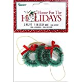 Darice 3-Piece Sisal Wreath with Frost, 1-Inch