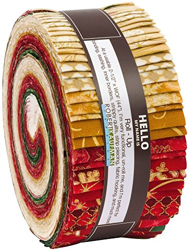 Winter's Grandeur Holiday Colorstory Roll up 40 2.5-inch Strips Jelly Roll Robert Kaufman Fabrics by Robert Kaufman
