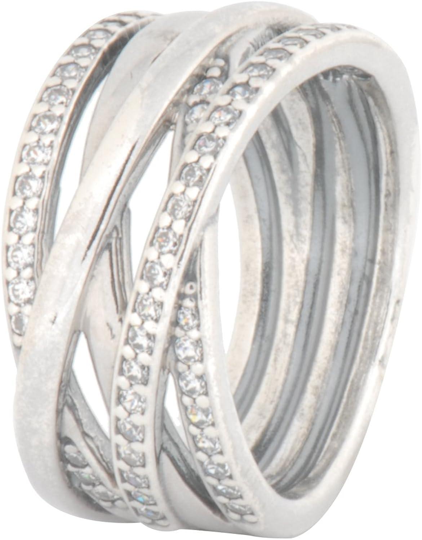 Amazon.com: PANDORA Ring Entwined, 4.5 X-SM, 2PC Bundle w/ PANDORA ...