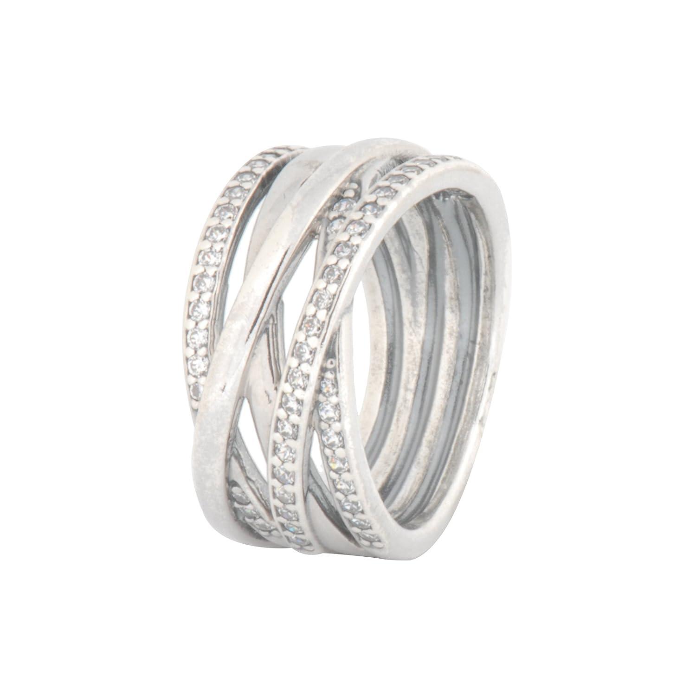 284f75dc6 Amazon.com: PANDORA Ring Entwined, 4.5 X-SM, 2PC Bundle w/ PANDORA Gift Box  190919CZ: Jewelry