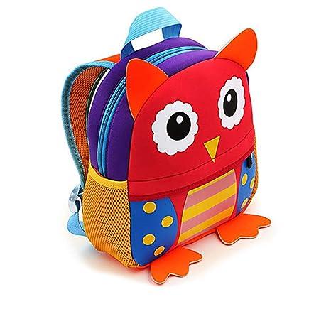 Mochilas Guarderia Pequeños Para Niños y Niñas, AOBETAK Cute 3d Animales Design Bolsos Escolares ,Presente y Regalos Mochila Merienda para Niños Bebe ...