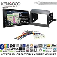 Volunteer Audio Kenwood Excelon DNX694S Double Din Radio Install Kit with GPS Navigation System Android Auto Apple CarPlay Fits 2004-2010 Non Amplified Toyota Sienna