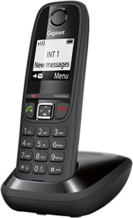 Gigaset AS405 - Teléfono fijo analógico (manos libres, mínimas radiaciones), negro [Versión Importada]: Amazon.es: Electrónica