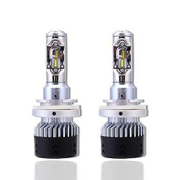 HACO 2 bombillas LED de alta potencia para faros delanteros, set de 70 W (35W/bombilla): Amazon.es: Coche y moto