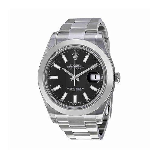 Rolex - Reloj de pulsera hombre, acero inoxidable, color plateado: Amazon.es: Relojes