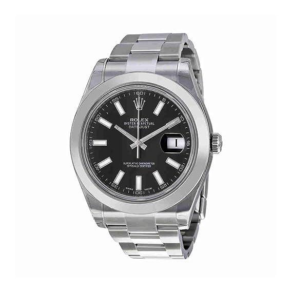 Rolex - Reloj de pulsera hombre, acero inoxidable, color plateado