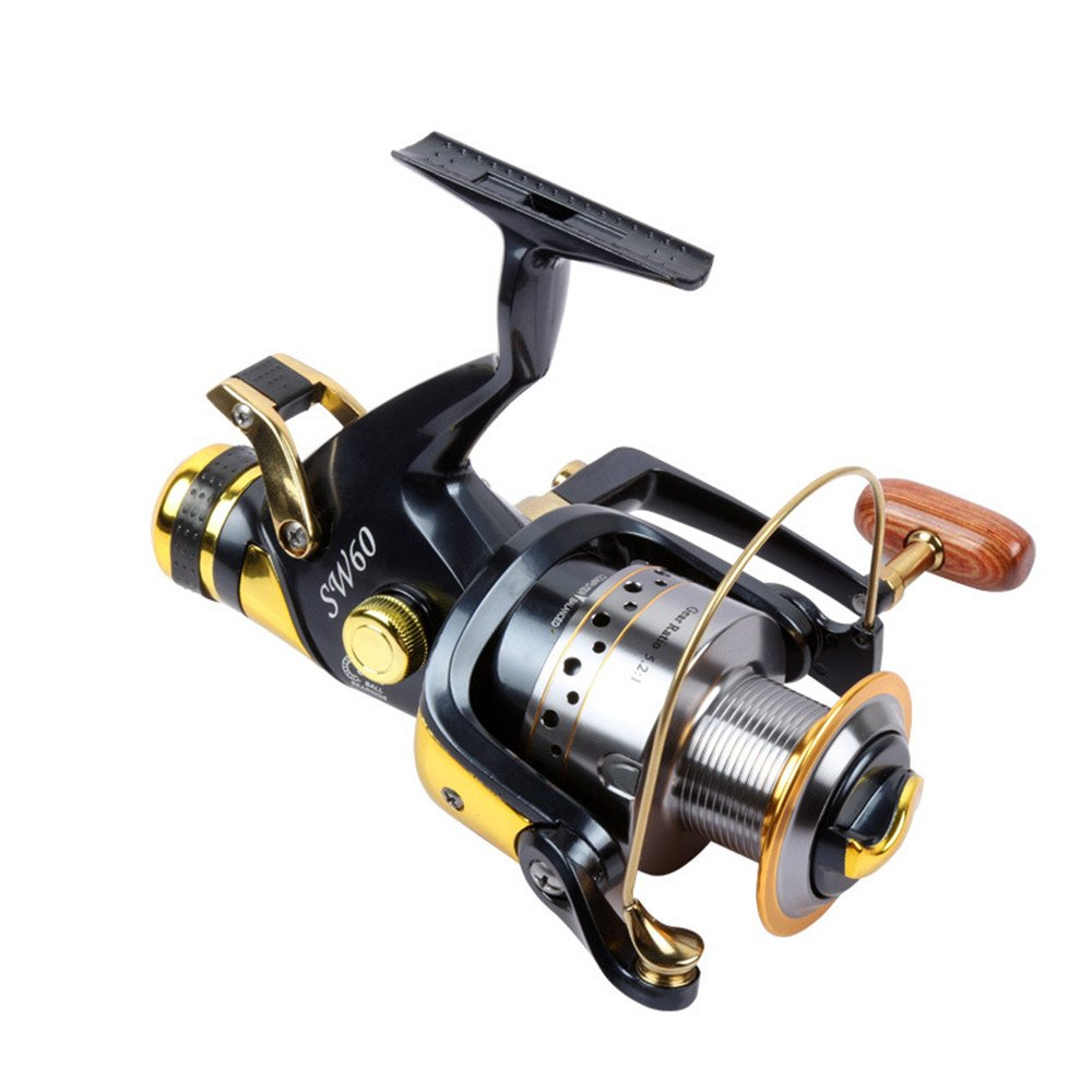 6000 XBLAA redating Fishing Reel 9+ 1 Bearing Left and Right Interchangeable Handle for Double Towed Braking System Fishing Reel Accessories