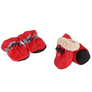 Antideslizante Slip Pet Dog Waterproof Boots Shoes Calcetines para Perros con Correas elásticas Soft Cotton Acolchado