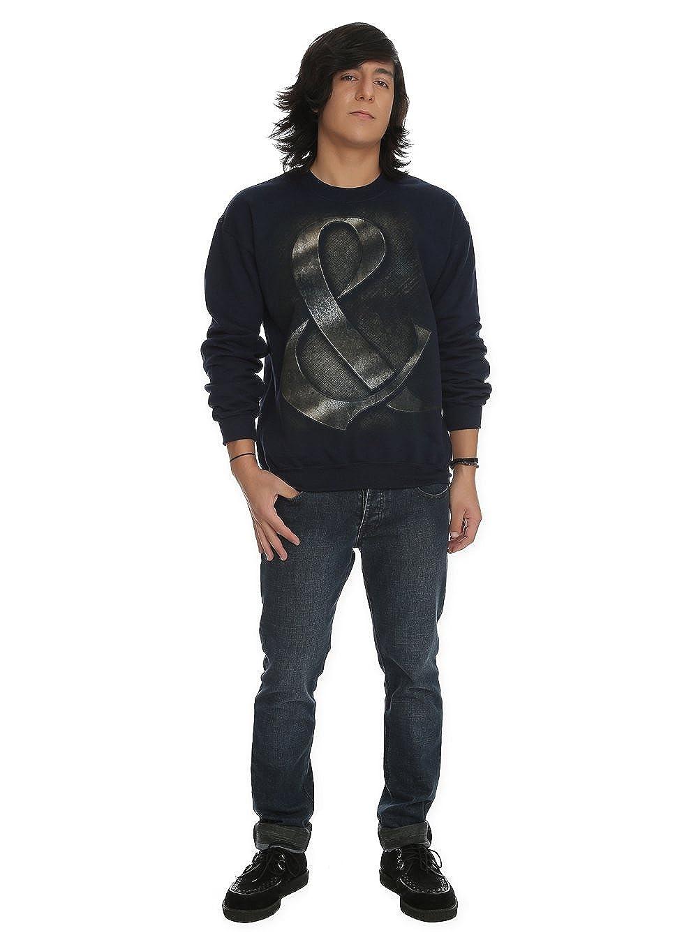 XX-Large Of Mice and /& Men Crew Neck Sweatshirt Steel Style Amperstand Image