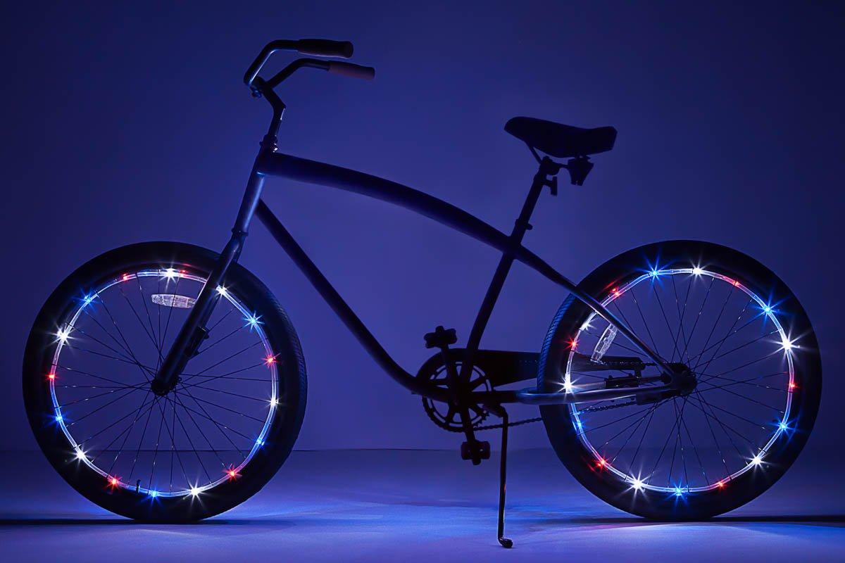 Brightz WheelBrightz LED Bicycle Wheel Accessory Light (2-Pack Bundle for 2 Tires), Patriotic by Brightz