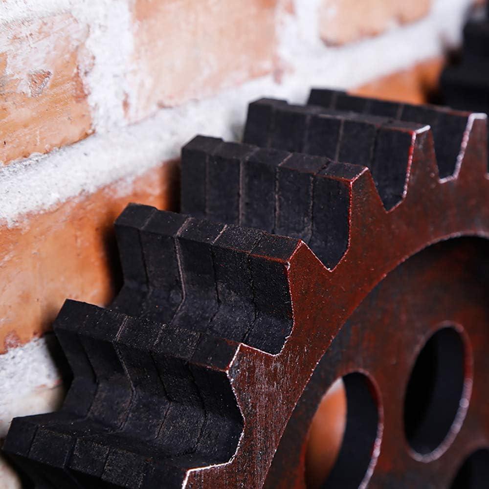 8Wooden Zahnrad-Wand-Kunst-Dekor Bar Club Wanddekorationen Aus Holz Handwerk Radzahnrad Design Ornament,A GRR Wanddekoration