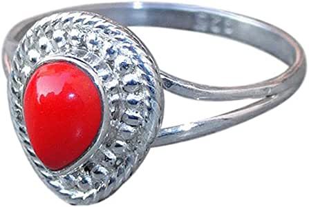 Amazon.com: Red Color 925 Sterling Silver Beautiful Pear