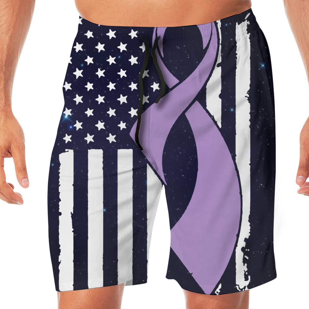 TAOHJS97 Lupus Cancer Awareness Flag-1 Mens Summer Casual Beach Board Shorts Drawstring Bathing Suit Best for Surfing