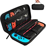 Electronics : Hestia Goods Switch Carrying Case compatible with Nintendo Switch - 20 Game Cartridges Protective Hard Shell Travel Carrying Case Pouch for Nintendo Switch Console & Accessories, Black