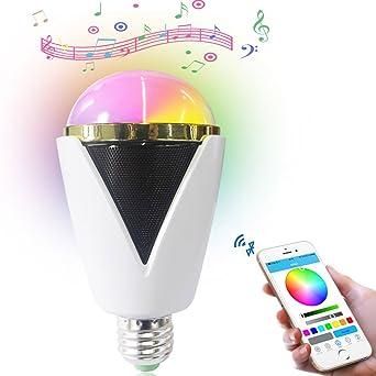 Yulass® Luces LED Inteligentes que Cambian de Color RGB con Música con Aplicación Gratuita Bombilla ...