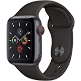 Apple Watch Series 5 40mm Space Grey AL Black Sport Band (GPS+Cell) Model A2156