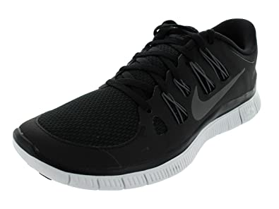Nike Mens Free 5.0+ Breathe Running Black  Metallic Dark Grey  White  Synthetic Shoe