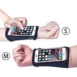 Avantree iPhone 6 / 6S Touchscreen Unterarm Band (2er Packung, S+M), Armband, Laufen Armband mit Schlüssel Personalausweis Geld Halterung für Fitness, Sporthalle, Sport