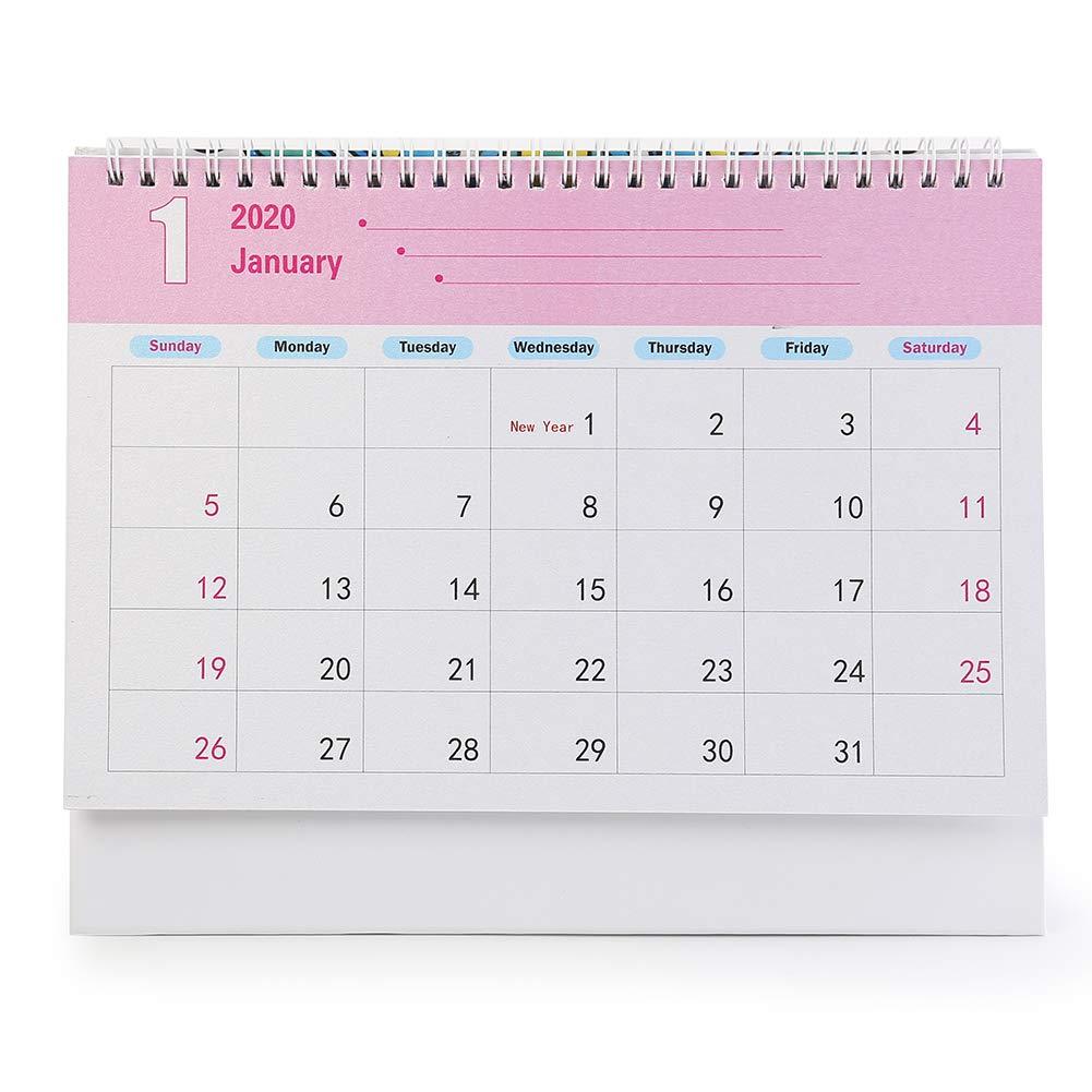 Gufo Calendario da Tavolo 2020 Demiawaking Calendario da Scrivania Mensile Pittura Diamante DIY Farfalla a Forma Speciale per Casa e Ufficio