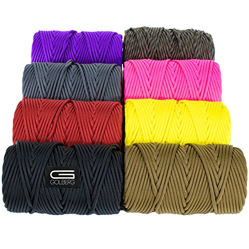 GOLBERG Type IV 750 LB Paracord/100% Nylon Made in USA/Several Colors & Lengths -
