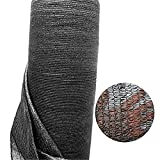 Katoot@ 50%-55% Shade Rate Black Sun Mesh 6' x 13' HDPE Shade Net for Garden and Greenhouse Car Roof (6' x 13', Black)