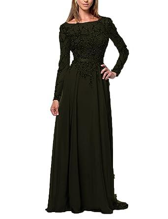 Amazon Oyisha Womens Long Prom Dress Beaded Long Sleeve Evening