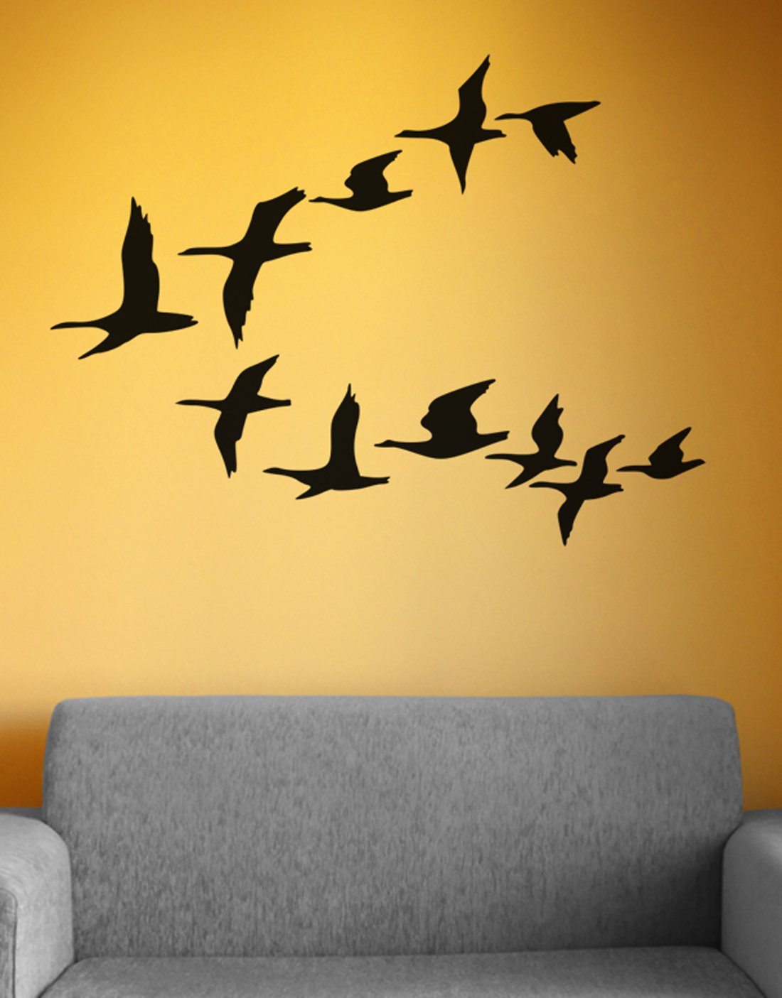 Amazon.com: Stickerbrand© Animals Vinyl Wall Art Flying Water Fowl ...