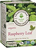 Traditional Medicinals Organic Raspberry Leaf Herbal Tea, 16 Tea Bags (Pack of 6)
