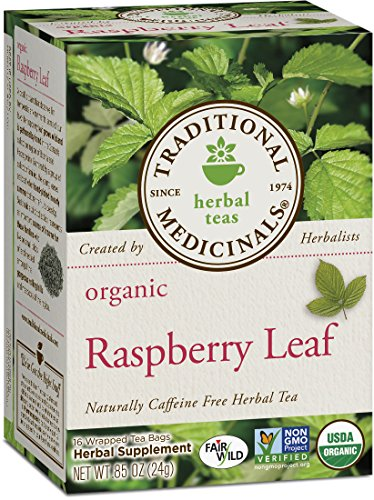 Organic Raspberry Leaf - Traditional Medicinals Organic Raspberry Leaf Herbal Tea, 16 Tea Bags (Pack of 6)