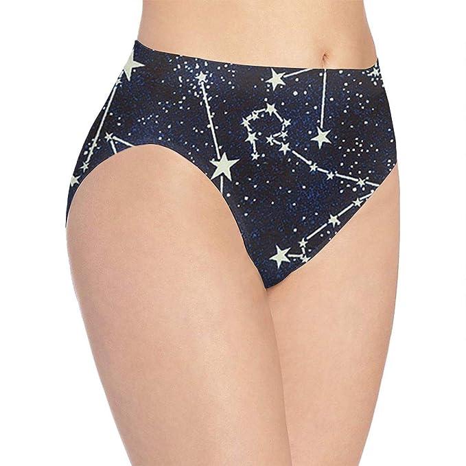 Amazon.com  Glow in The Dark Constellations Midnight Women s Underwear  Girls Stretch Bikini Panty Hi-Cut Briefs Gift 3D Pinted  Clothing b1e5e1e5f1