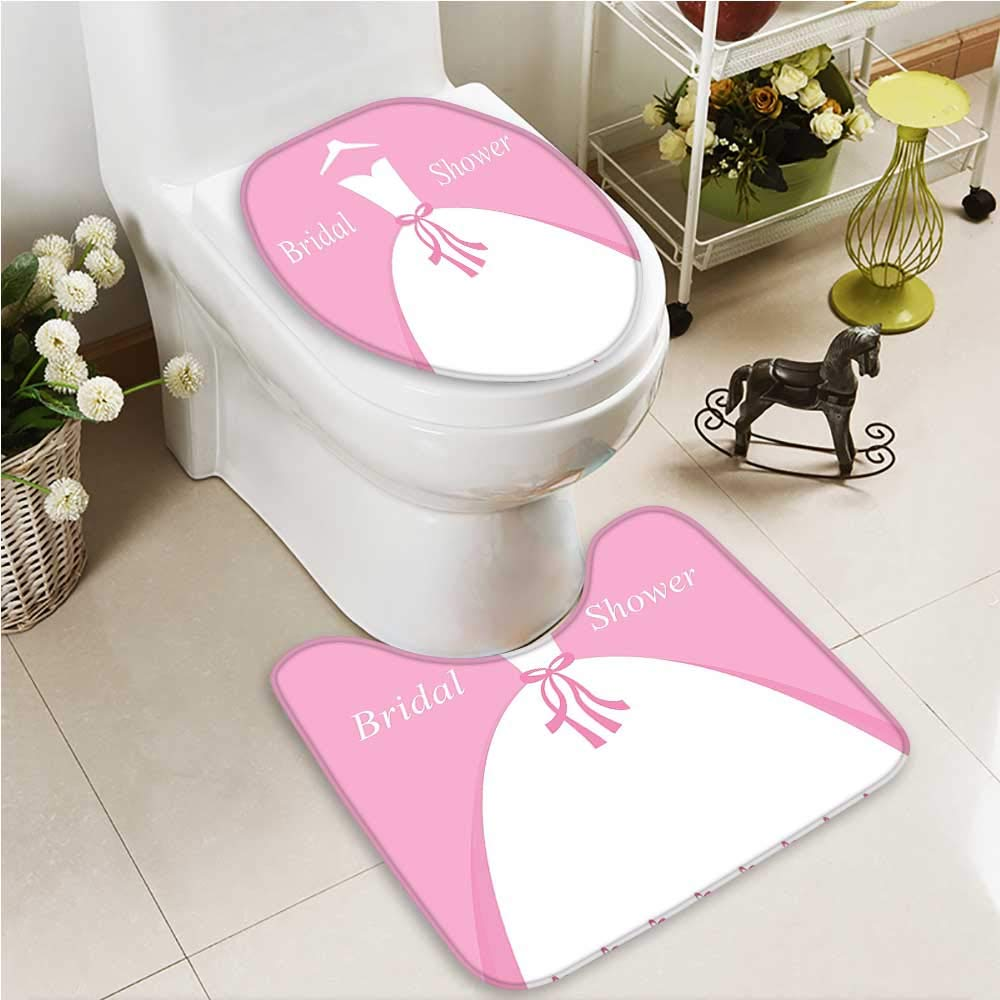 VROSELV U-shaped Toilet Mat-Soft Sunshine Clouds and Valley Sun Divider in College 2 Piece Toilet Toilet mat