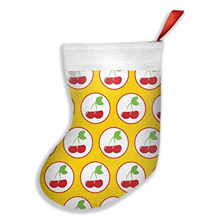 FQWEDY Animated Cherry Fashion Unique Christmas Stockings Personalized Gift Socks  Christmas Socks For Parties