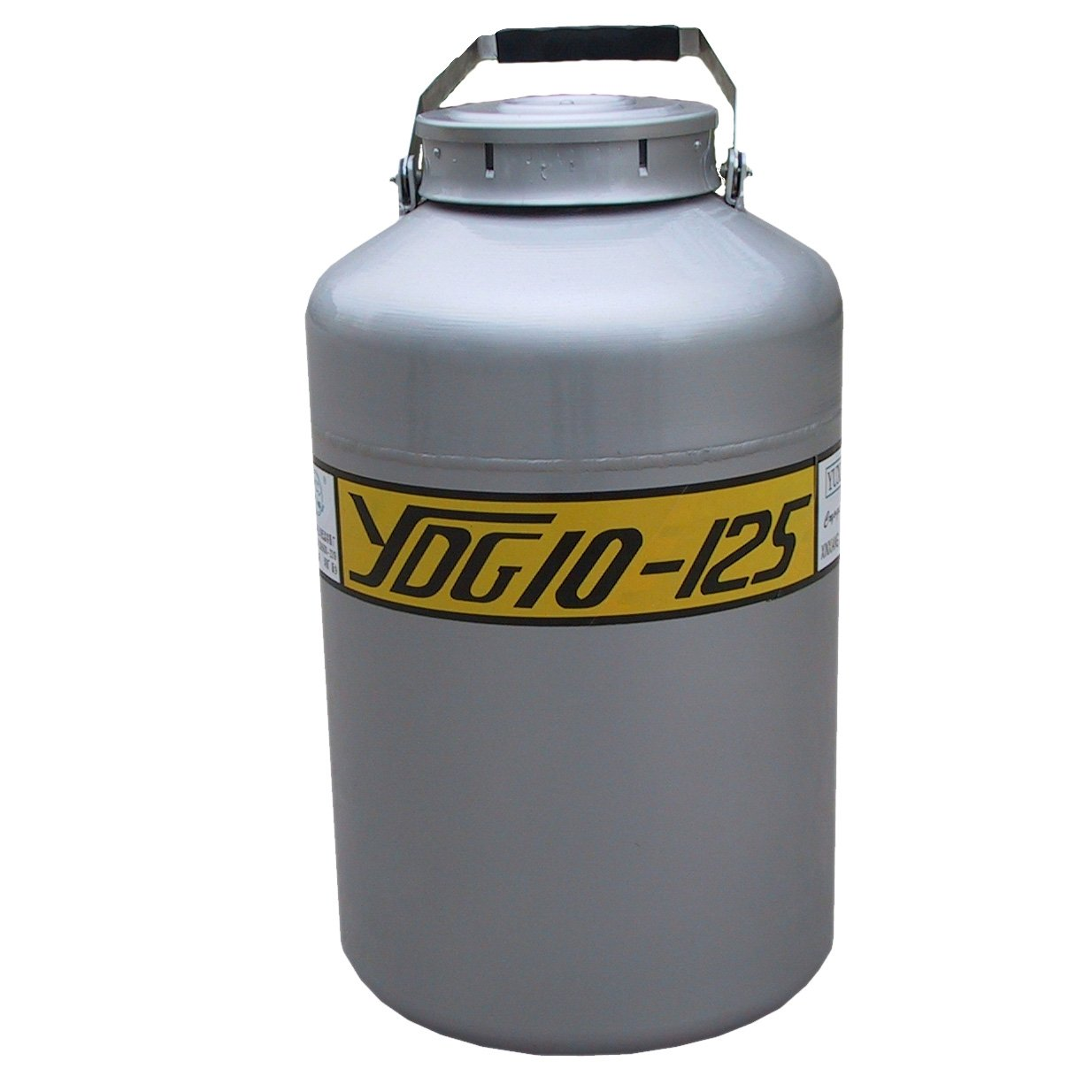 HFS (R) 10L Wide Mouth Cryogenic Container Liquid Nitrogen Ln2 Tank with Straps and Carry Bag