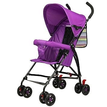 Carretilla Infantil Para Bebés Carro De Cuatro Ruedas Súper Ligero Plegable Para Bebés A Prueba De