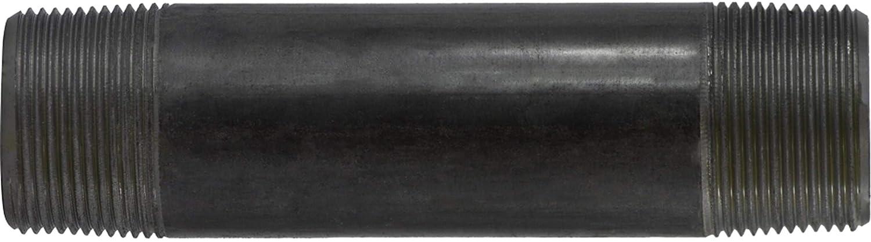 1-1//4 OD Steel 1-1//4 Diameter 9 Length 1-1//4 OD Midland Metal 9 Length SCH 40 Welded 1-1//4 Diameter Midland 57-132 Black Steel Nipple