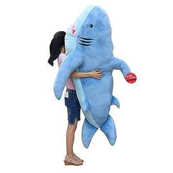 Niuniu Daddy 71'' Giant Shark Plush Pillow Super Large Stuffed Animal Toys