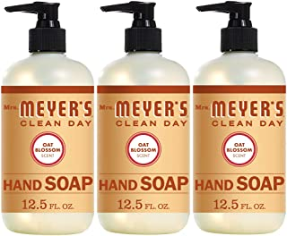 product image for Mrs. Meyer's Clean Day Liquid Hand Soap, Cruelty Free and Biodegradable Formula, Oat Blossom Scent, 12.5 oz