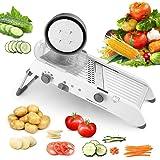 Karidge Mandoline Slicer Adjustable Thickness Vegetable Grater Julienne Slicer, Fruit Slicer, French Fry Cutter, Food Waffle