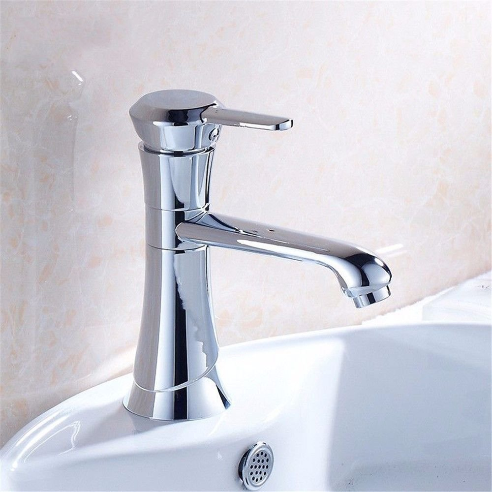 ETERNAL QUALITY Bathroom Sink Basin Tap Brass Mixer Tap Washroom Mixer Faucet Silver simple hot and cold basin faucet vanity quadripartite bathroom sink Faucet Kitchen Si