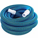 Swimming Pool Deluxe 30FT No Kinks Vacuum Hose w/ Swivel Cuff 1 1/2'' Diameter