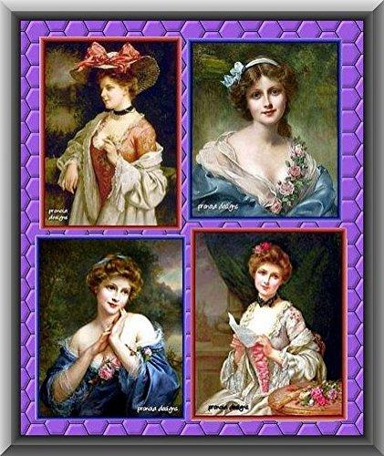 4 Printable Francois Martin Kavel Vintage Prints, Version 1, High Resolution, 8