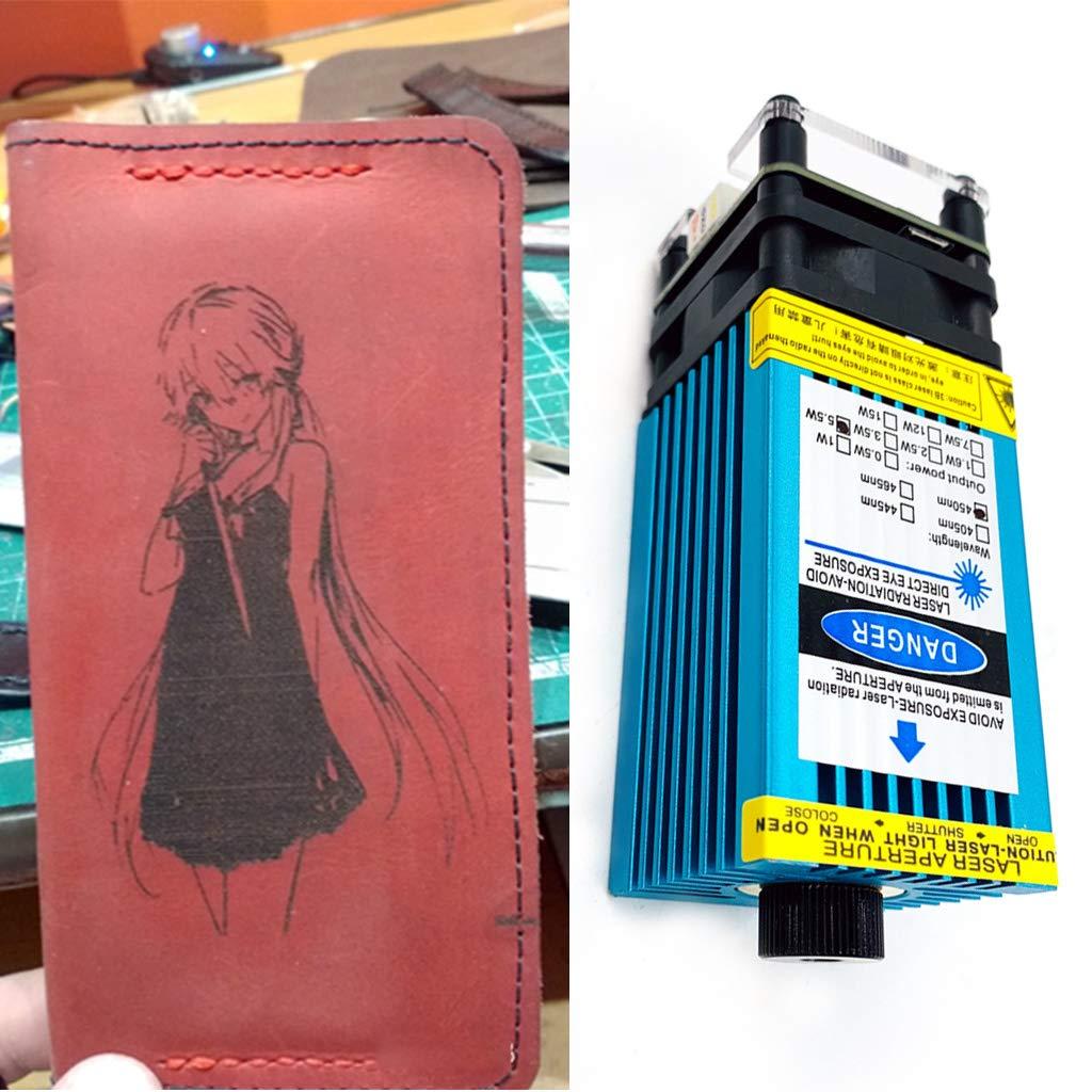 BIlinli DIY Blau Gravur Modul Fokussierbare 445nm High Power /Ätzkopf 5.5W Gravur DIY 3500mw Mehrzweck