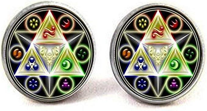 zelda accessory Triforce cufflinks Legend of Zelda Cufflinks zelda cufflinks Mens Jewelry ocarina mirror navi cufflinks zelda jewelry