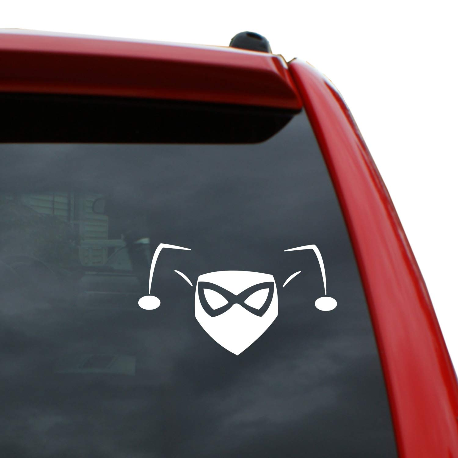 Amazon com harley quinn jester 5 x 2 8 vinyl decal window sticker for cars trucks windows walls laptops and more home improvement