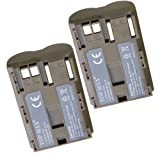TOP-MAX® BP-511A BP-511 Battery -TWO PACK Canon BP-511A Canon EOS 5D, 50D,300D Digital SLR Cameras, Canon Powershot G5,G2,G3,G6,G1 Point & Shoot Digital Cameras,Canon Camcorders MV30,MV300,MV400,MV430,MV450,also for BG-E2N Battery Grip,Canon Battery Charger CB-5C