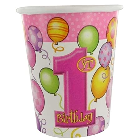 NANAS PARTY 1er cumpleaños 8 Vasos de Papel - 9 oz/200 ml ...